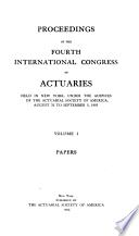 Transactions of the International Congress of Actuaries