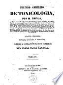 Tratado completo de Tocsicología
