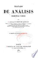 Tratado de análisis gramatical y lógico