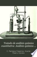 Tratado de análisis química cuantitativa: Análisis química cuantitativa especial