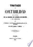 Tratado de contabilidad del material de la marina de guerra de España y de arsenales, etc