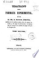 Tratado de farmacia esperimental [sic]