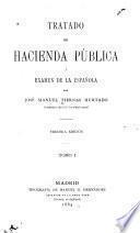 Tratado de hacienda pública y examen de la española