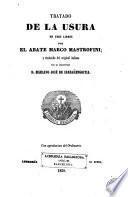 Tratado de la usura en tres libros