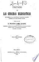 Tratado de las censuras eclesiásticas
