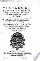 Tratado de nobleza ... de España