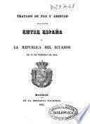 Tratado de paz y amistad celebrado entre España y la República del Ecuador