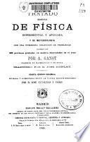 Tratado elemental de física esperimental y aplicada y de metereología con una numerosa colección de problemas
