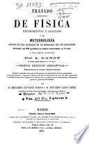 Tratado elemental de física experimental y aplicada y de metereología