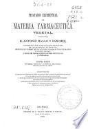 Tratado elemental de materia farmacéutica vegetal