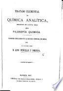 Tratado elemental de Química Analítica, precedido de algunas ideas sobre filosofia quimica