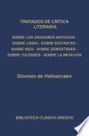 Tratados de crítica literaria