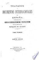 Tratados y documentos internacionales de España publicados en la Revista de derecho internacional y política exterior