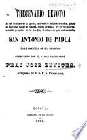 Trecenario devoto al sol brillante de la Iglesia ... San Antonio de Padua para consuelo de sus devotos, etc