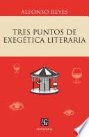 Tres puntos de exegética literaria