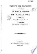 Triunfo del servilismo, conseguido con motivo de los sucesos de Zaragoza