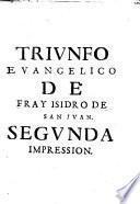 Triunfo euangelico de Christo, y sus santos