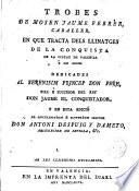 Trobes de --- en que tracta dels llinatges de la conquista de la Ciutat de Valencia