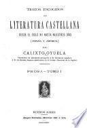 Trozos escogidos de literatura castellana