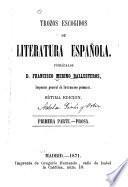Trozos escogidos de literatura española