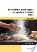 UF1052 - Elaboración de masas y pastas de pastelería repostería