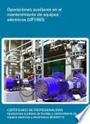 UF1965 - Operaciones auxiliares en el mantenimiento de equipos eléctricos