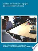 UF2122 - Gestión y dirección de equipos de encuestadores
