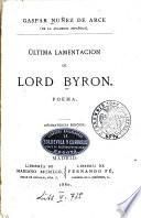 Última Lamentacion de Lord Byron