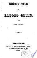 Últimas cartas de Jacobo Ortis
