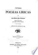 Últimas poesías líricas de José María Bárcena ...