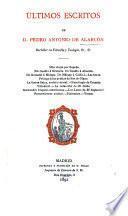 Últimos escritos de Pedro Antonio de Alarcón
