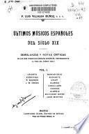 Últimos músicos españoles del siglo XIX