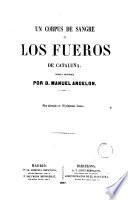 Un corpus de sangre o los fueros de Cataluña