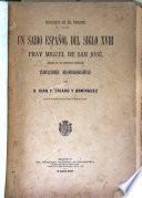 Un sabio español del siglo XVIII, fray Miguel de San José, general de los Trinitarios Descalzos