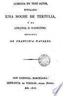 Una noche de tertulia, ó El coronel D. Raimundo