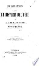 Una página gloriosa para la historia del Perú
