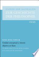 Unidad conceptual y síntesis objetiva en Kant