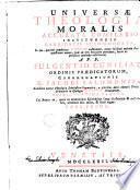 Universae theologiae moralis, 1
