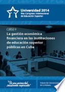 Universidad 2014. Curso corto 9: La gestión económica financiera en instituciones de educación superior