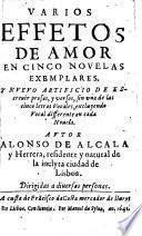 Varios effetos de amor en cinco novelas exemplares