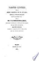 Varones ilustres de la Orden Serafica en el Ecuador