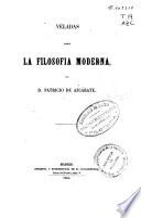 Veladas sobre la filosofía moderna