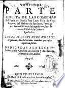 Ventidos parte perfeta de las comedias del Fenix de España frey Lope Felix de Vega Carpio ...