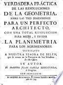 Verdadera práctica de las resoluciones de la geometría