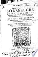 Veynte discursos sobre el Credo en declaracion de nuestra Sancta Fe Catholica, y Doctrina Christiana muy necessarios a todos los Fieles en este tiepo