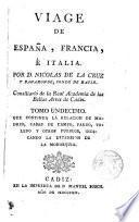 Viage de España, Francia e Italia