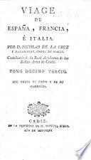 Viage de España, Francia, é Italia