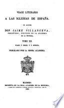 Viage literario á las iglesias de España: Vique. 1821