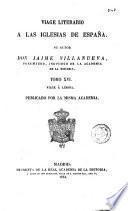 Viage [sic] literario a las iglesias de España, 16