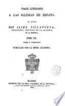 Viage [sic] literario a las iglesias de España, 20